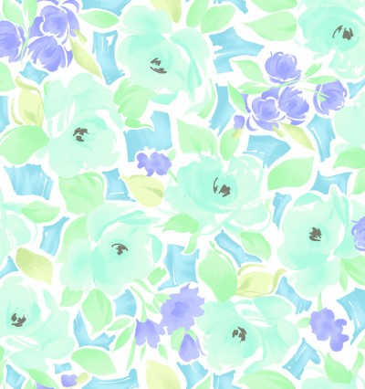 Lisette Blue Watercolor Floral