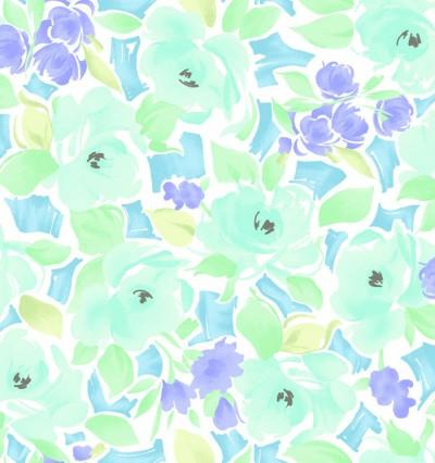 Lisette Blue Watercolor Floral