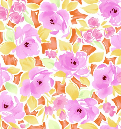 Lisette Pink Watercolor Floral