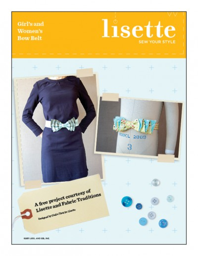 Bow Belt, a Free Project from Lisette