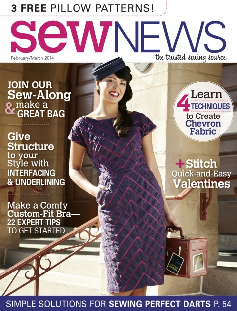 Sew News, February March Cover