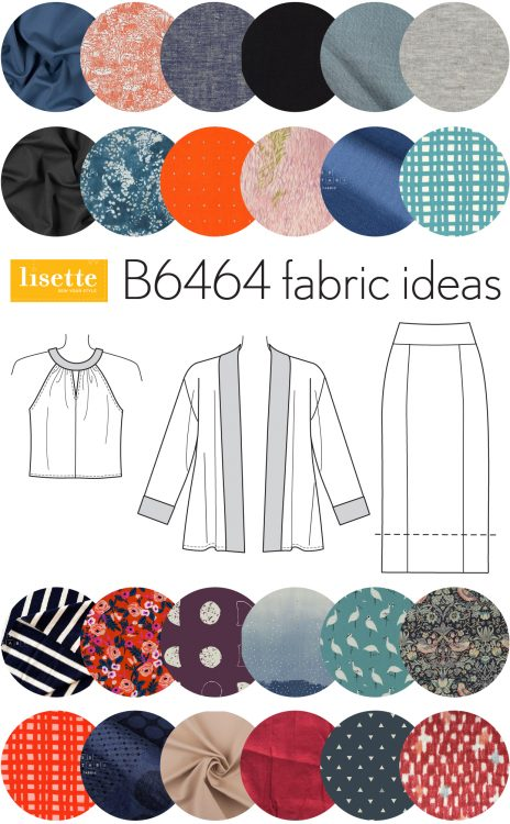 Lisette B6464 fabric ideas