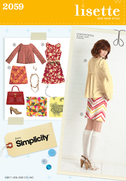 Simplicity 2059 Patterns Lisette